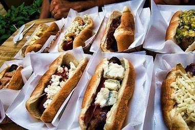 Prairie Dogs craft hot dog shop in Minneapolis, Minnesota.