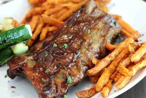 Baby back ribs at Duffy's Coconut Grove